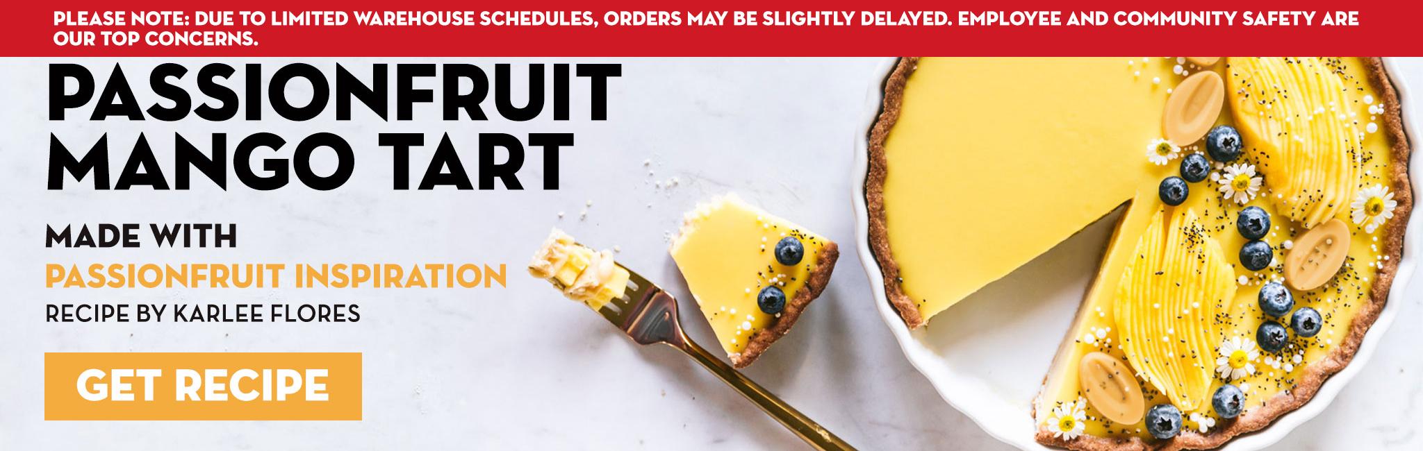 Passion fruit mango tart recipe
