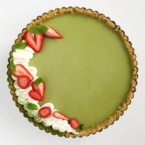 RED, WHITE AND GREEN TART