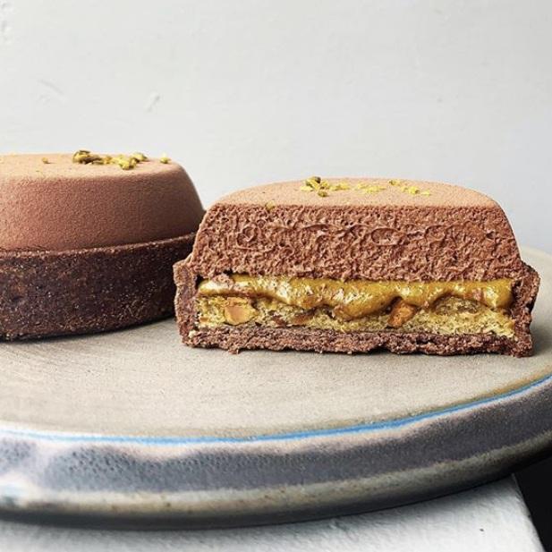 Patrice Demers Chocolate Pistachio Tart