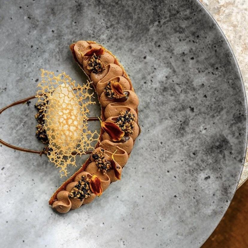 @goulashriot Sesame Banoffee Plated Dessert
